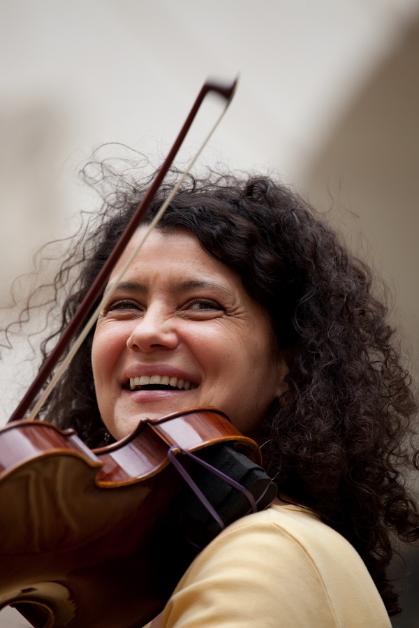 Image of Czech vocalist, violinist, composer, and actress Iva Bittová