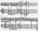 Accidentals notated with dots under the notes (bar 1), or ordinary accidental signs next to the notes (bar 5), fairly close to them (end of bar 1, bass line) or above them (final bar) ('Intabolatura nova di … balli'; Venice: Antonio Gardane, 1551)