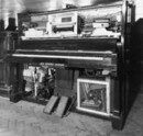 Cover Bechstein-Welte upright reproducing piano, c1924 (British Piano Museum, Brentford)