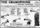 Cover Advertisement for the gramophone from 'The Graphic' (1902, supplement)