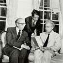 Aaron Copland with Lukas Foss and Elliott Carter.
